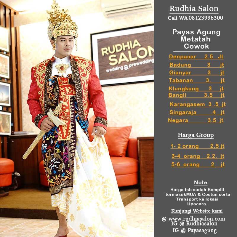 Harga Payas Metatah - Profesional Salon & Wedding di Bali